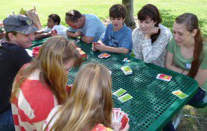 "SCQM Youth, Spring 2013: ""Apples to Apples"" game at the park"
