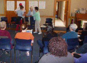 Orange County Friends performing outreach skits - April 2014